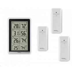 Pokojvá anténa SV9385, zesilovač 47dB, filtry 3G-GSM, 4G-LTE, UHF/VHF, DVB-T/T2/DAB/DAB+, dosah 0-25 km, 47dB
