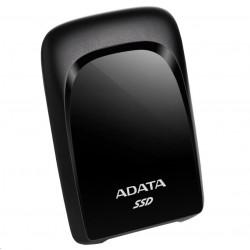 """AKASA HDD box Noir S, 1x 2,5\"""" SATA HDD/SSD, USB 3.0, broušený černý hliník"""