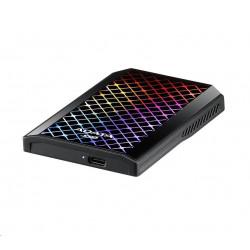 """AKASA HUB USB AK-ICR-25, do 3,5\"""" pozice, 2x USB 3.0, 2 nabíjecí porty USB"""