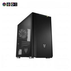 "AKASA Ovládací panel FC.TRIO do 5.25"" pozice, 3x FAN, 3x teplotní čidlo, alarm, display, černý hliník"